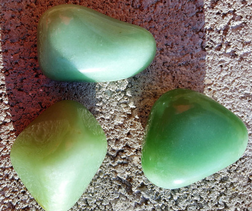 Extra Large Natural Green Aventurine Tumbled - Stone of Good Luck