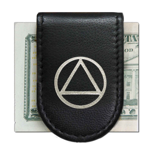 AA Leather Magnetic Money Clip