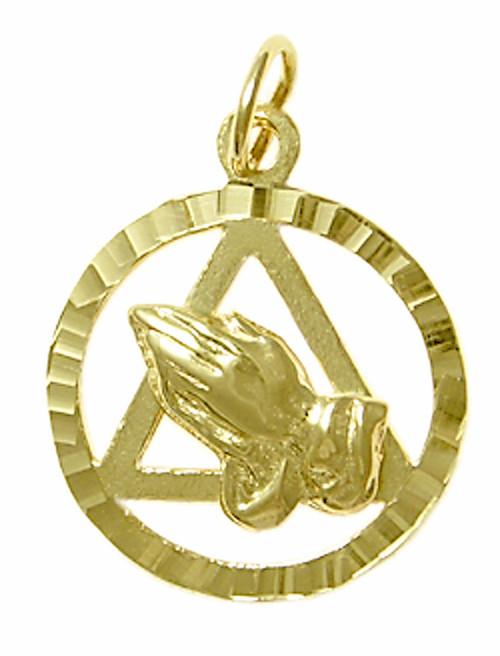 Style 18 4 14k Gold Pendant Aa Symbol W Praying Hands
