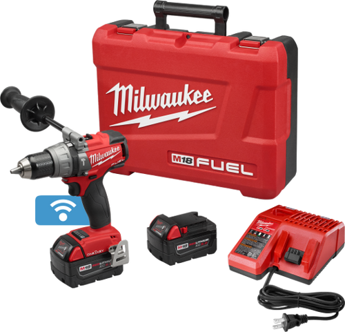 "Milwaukee M18 FUEL™ 1/2"" HAMMER DRILL/DRIVER WITH ONE-KEY™ KIT"