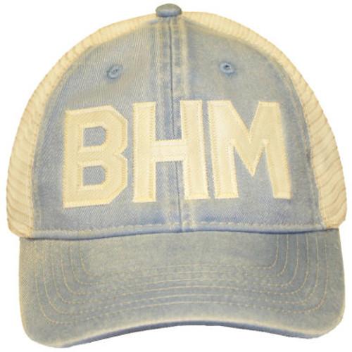 BHM Washed Denim   Ivory Comfort Colors Trucker Cap - Rogue Garments 672216a590c9