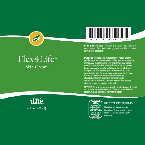 Flex4life Cream supplemental facts