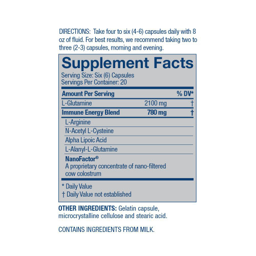 Supplemental Facts Glutamine Prime by 4Life