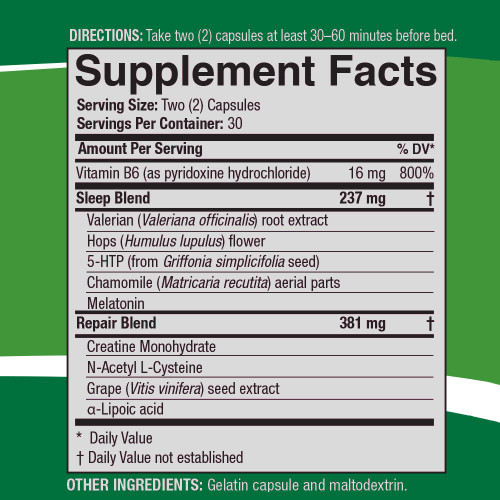 SleepRite AMJ by 4Life Supplemental Facts