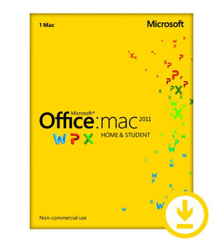 Microsoft Office for MAC Home and Student 2011 - Retail download