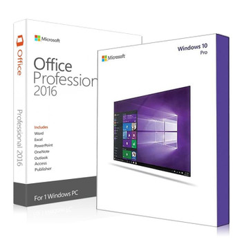 Windows 10 Pro + Office 2016 Professional Bundle