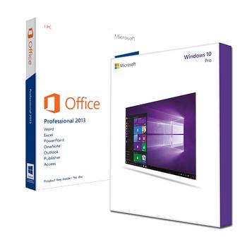 Windows 10 Pro + Office 2013 Professional Bundle