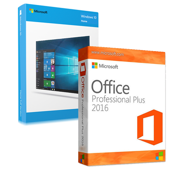 Windows 10 Home  + Office 2016 Professional Bundle