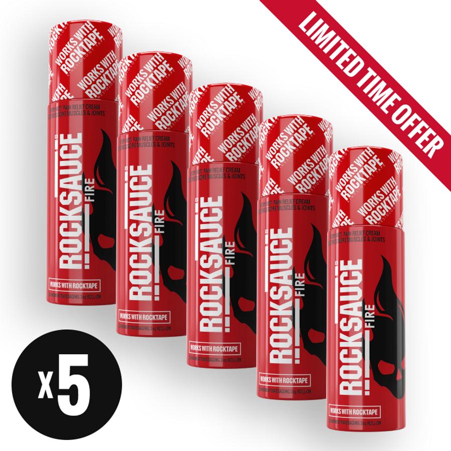 RockSauce Fire 3oz 5-Pack Bundle (Limited Time)