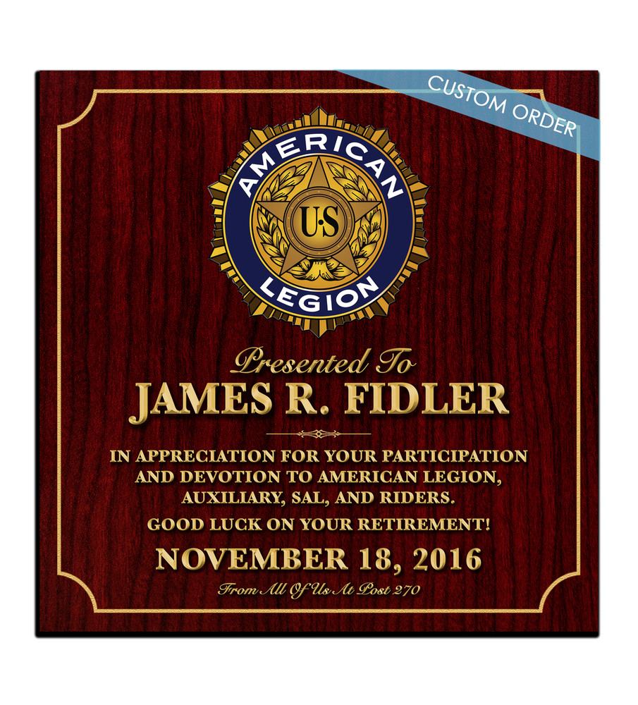 CUSTOM RECOGNITION PLAQUE (B1) - PERSONALIZED