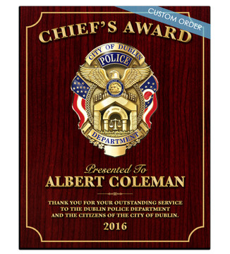 CUSTOM RECOGNITION PLAQUE (COSRWB) - PERSONALIZED