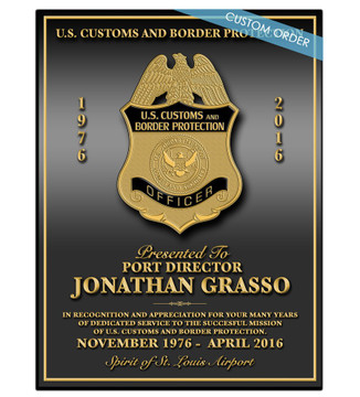 CUSTOM RECOGNITION PLAQUE - PERSONALIZED