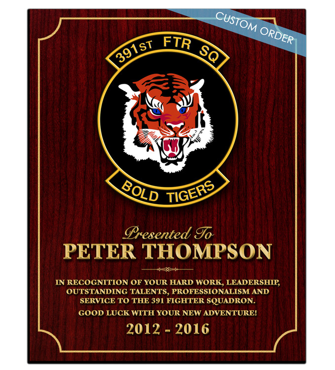 CUSTOM RECOGNITION PLAQUE (BWAX1) - PERSONALIZED