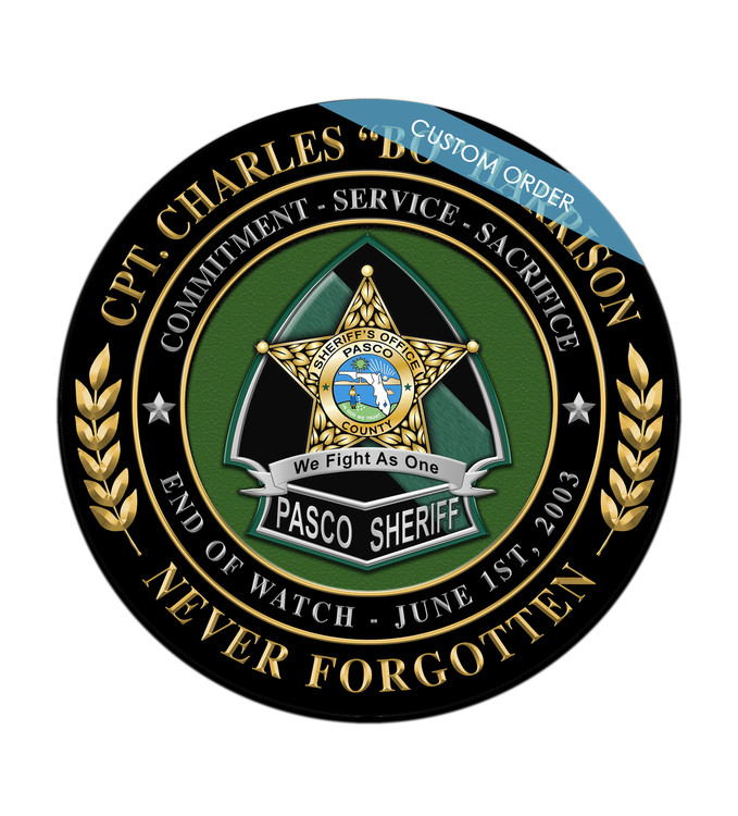You can add any Patch, Badge, Seal, Logo or Artwork on to the Personalized Seal Plaque. Law Enforcement, Fire Department, Military, Government, Emergency Service Personalized Plaque. You can choose your background, personalize the wording and have any Artwork in the middle.