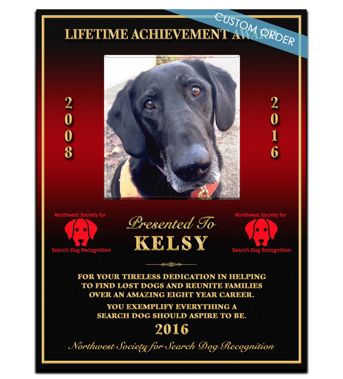 "This is a Custom K9 Plaque! A ""stunning"" Wood & Acrylic Wall Plaque that really stands out and makes you stop and appreciate it.  Any Patch, Badge, Seal, Logo, Challenge Coin or any Artwork of your choice can be added with Free Setup and Free Shipping.  This is a perfect gift for any Law Enforcement Agency, Government Agency, Military Department, Fire Department, Emergency Service or Organization."