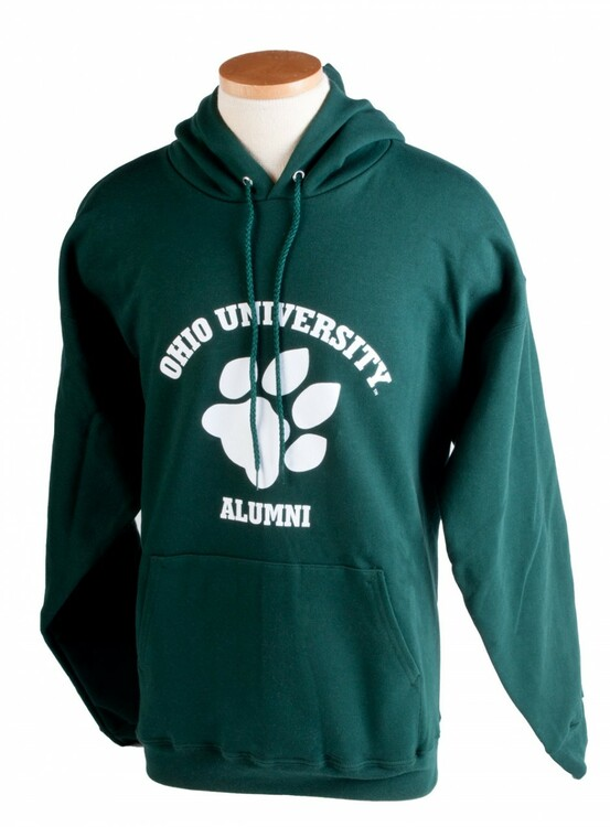 OHIO UNIVERSITY ALUMNI PAW HOODED SWEATSHIRT