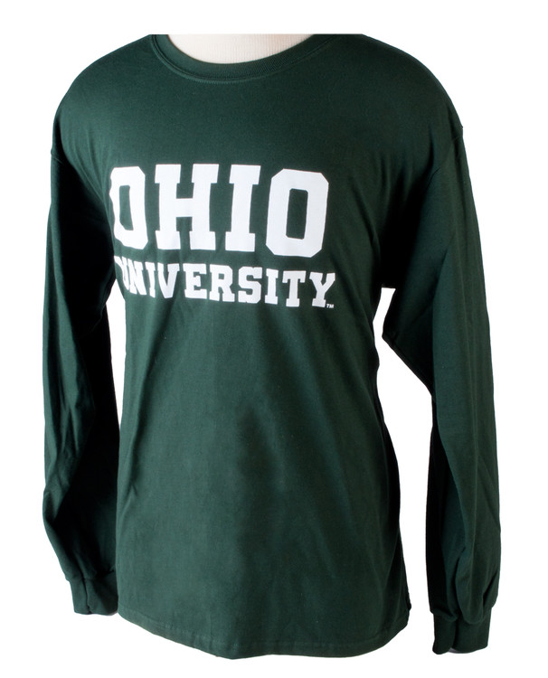 STACKED OHIO UNIVERSITY LONG SLEEVE T-SHIRT