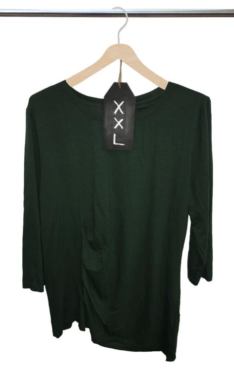 Ladies' 3/4 Sleeve Plaza Pleated Knit