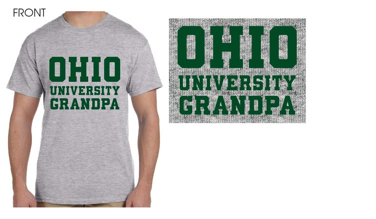 OHIO UNIVERSITY GRANDPA T-SHIRT IN GREY