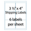 """Shipping Labels 3-1/3 x 4"""" 