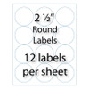 """2-1/2"""" Round Labels 