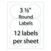 """3-1/3"""" Round Labels 