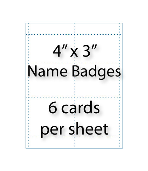 Wholesale Blank Name Badges Avery 5392 Compatible