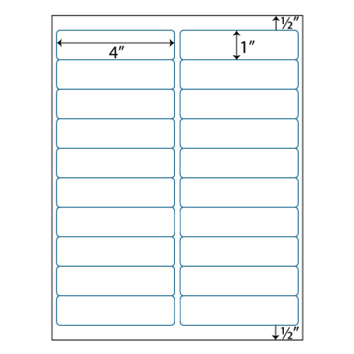 Address Labels 4 X 1 20 Up Avery 5161 5961 Compatible