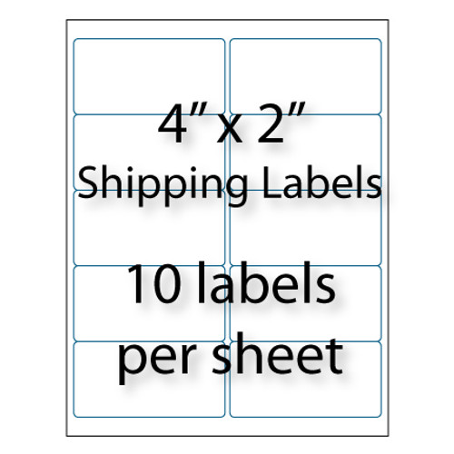 shipping labels 4 x 2 10 up avery 5163 compatible
