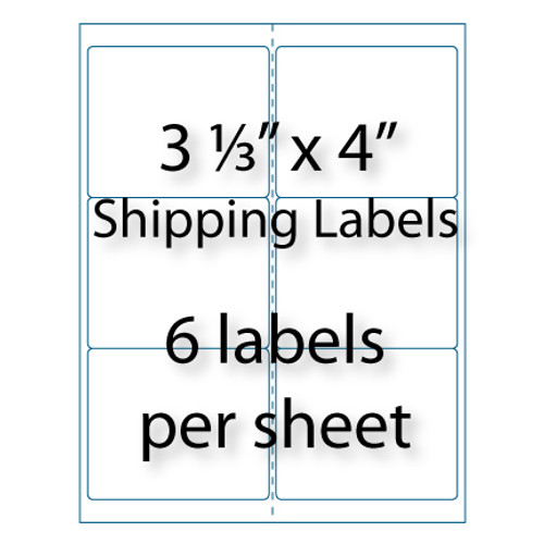 Shipping Labels X Up Avery Compatible - 10 up label template