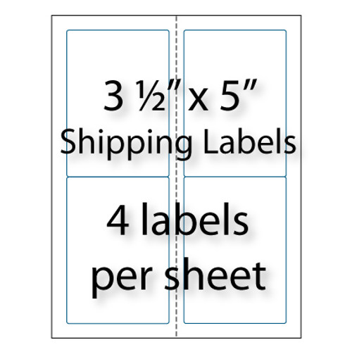 Shipping Labels 3 12 X 5 4 Up Avery 5168 Compatible