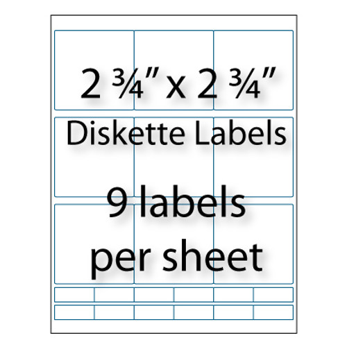 """Diskette Labels 2-3/4"""" x 2-3/4"""" 