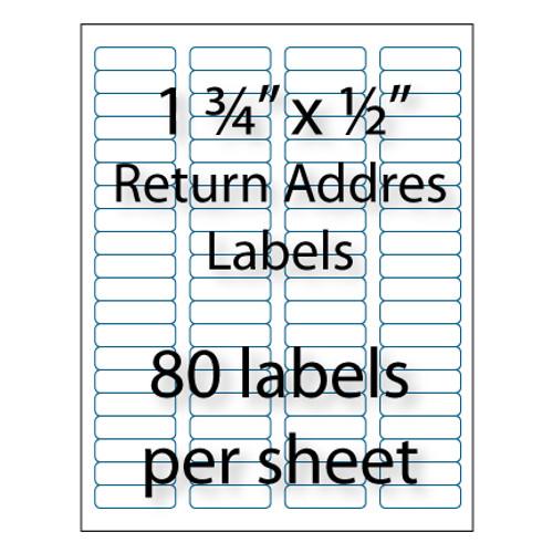 return address labels 1 34 x 12 80