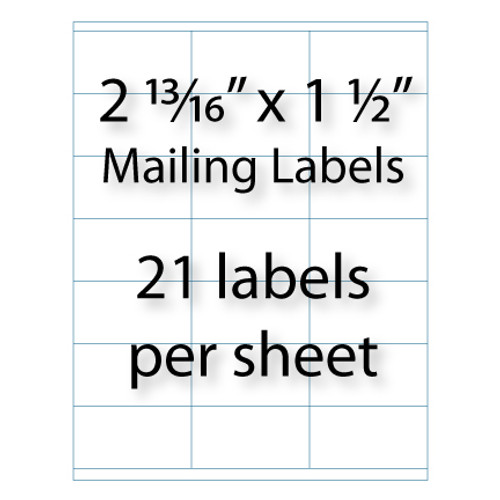 Mailing Labels 2 1316 X 1 12 Avery 5360 5321 Compatible