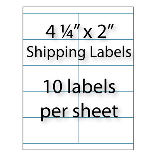 Wholesale 425 X 2 Blank Shipping Labels Avery 5352 Compatible