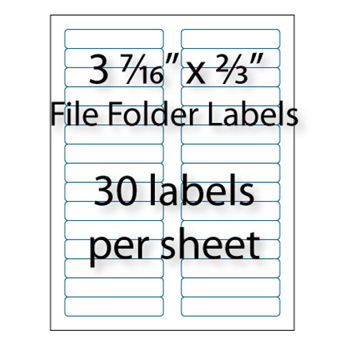 "File Folder Labels 3-7/16"" x 2/3"" 