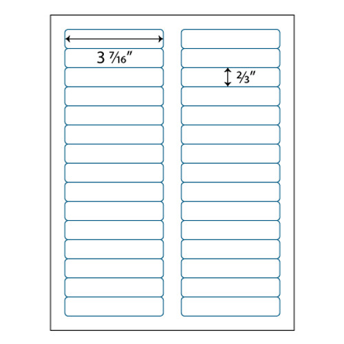 File Folder Labels 3 716 X 23 30 Up Avery 5366 Compatible