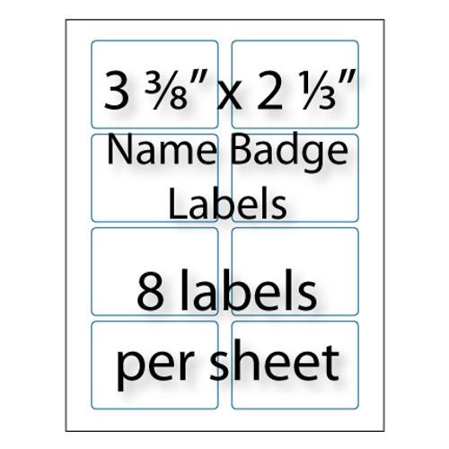 name badge labels  8 u0026quot  x 2 3 u0026quot