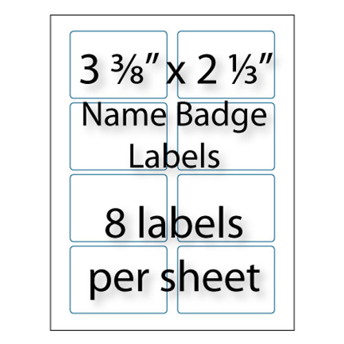Name badge labels 3 3 8 x 2 1 3 avery 5395 for Avery 2 x 3 label template
