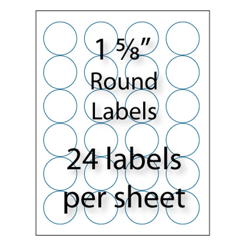 1 58 Avery Round Labels 24 Up Avery 5293 Compatible