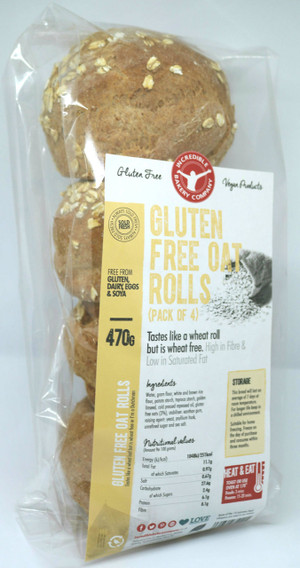 Incredible Gluten Free Oat Rolls (4 in a pack)