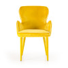 Modrest Tigard Modern Yellow Fabric Dining Chair