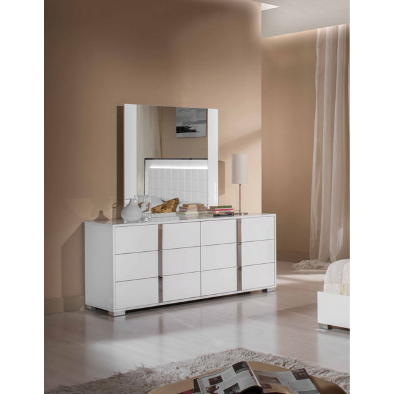 Modrest San Marino Modern White Bedroom Set - Lounge LA