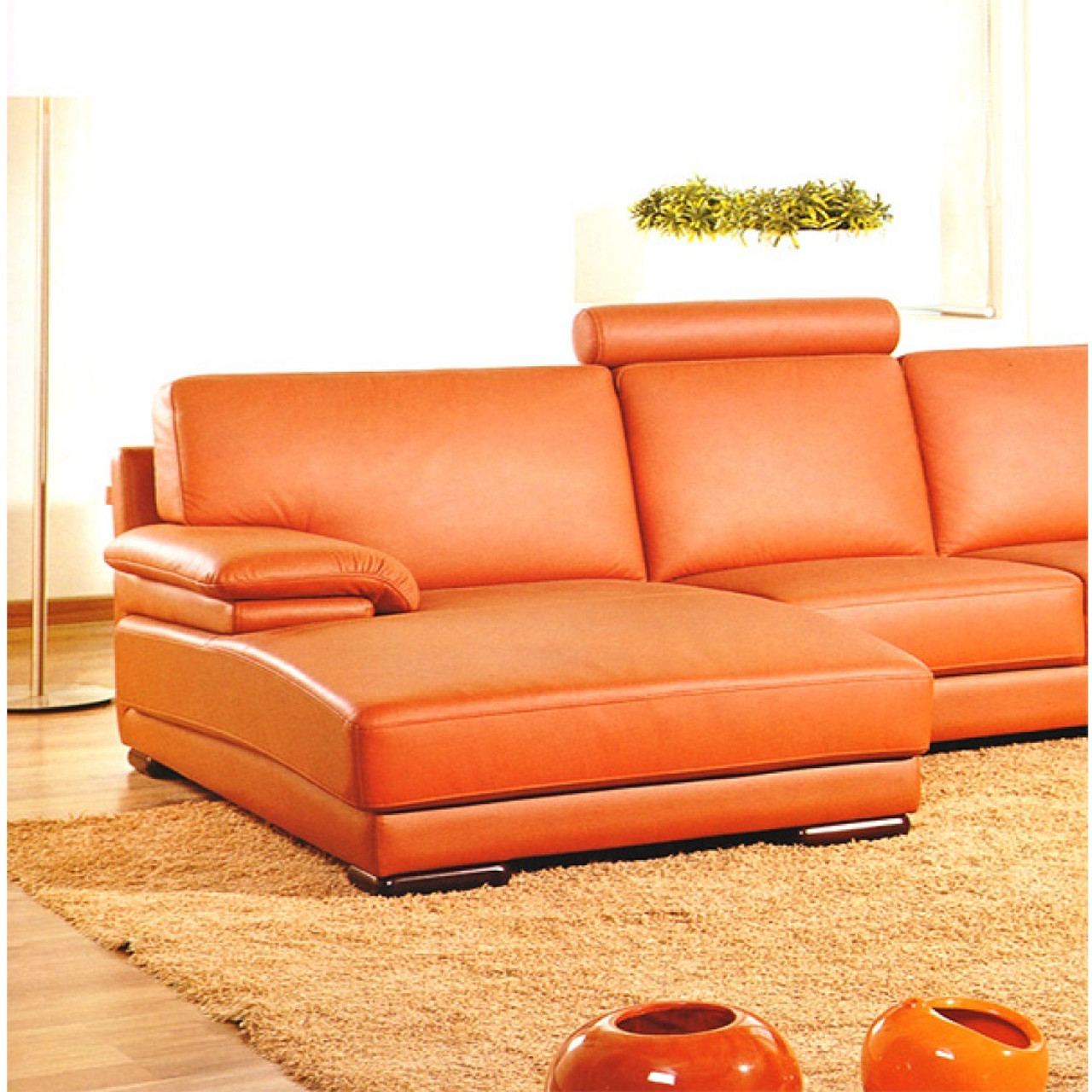 modern leather sectional sofas. Divani Casa 2227 - Modern Leather Sectional Sofa Sofas