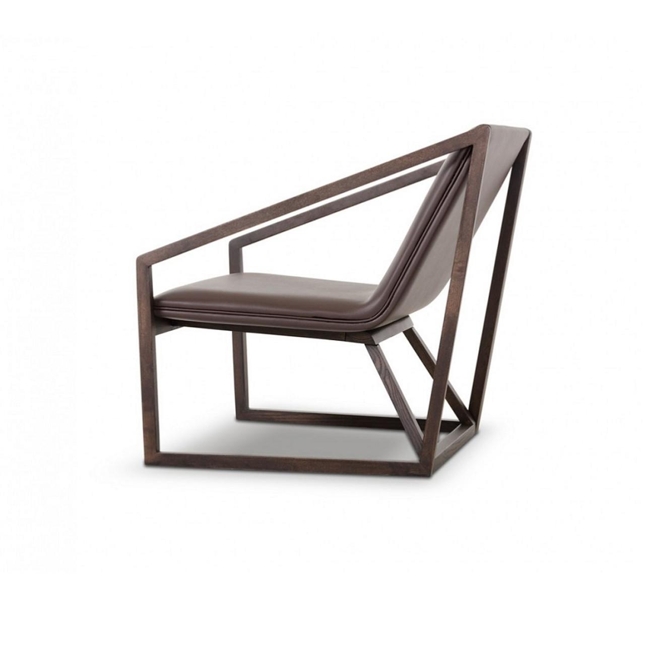 Divani Casa Taranto - Modern Brown Eco-Leather Lounge Chair - Lounge LA