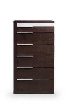 Modrest Torino Modern Brown Oak & Grey Chest