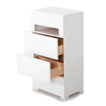 Modrest Ceres - Modern White Glossy Chest with Light