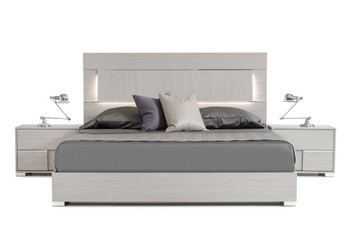 Modrest Ethan Italian Modern Grey Bed