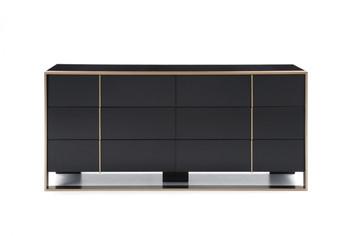 Nova Domus Cartier Modern Black & Rosegold Dresser