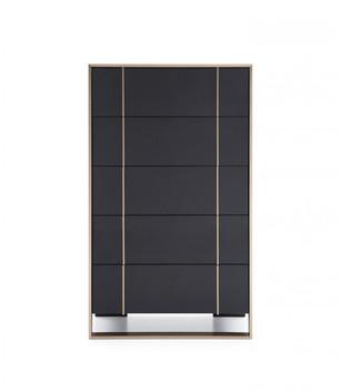 Nova Domus Cartier Modern Black & Rosegold Chest